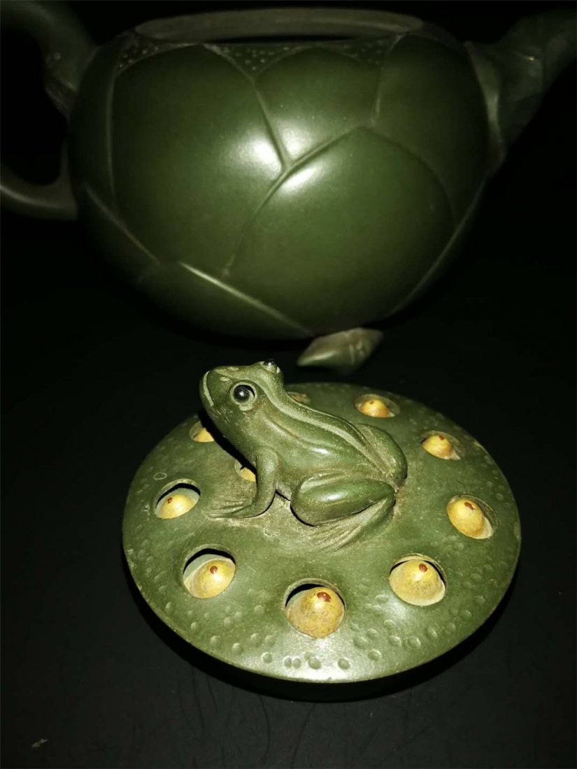Chinese zisha teapot and cover.(Mark of Jiang Rong) - 3