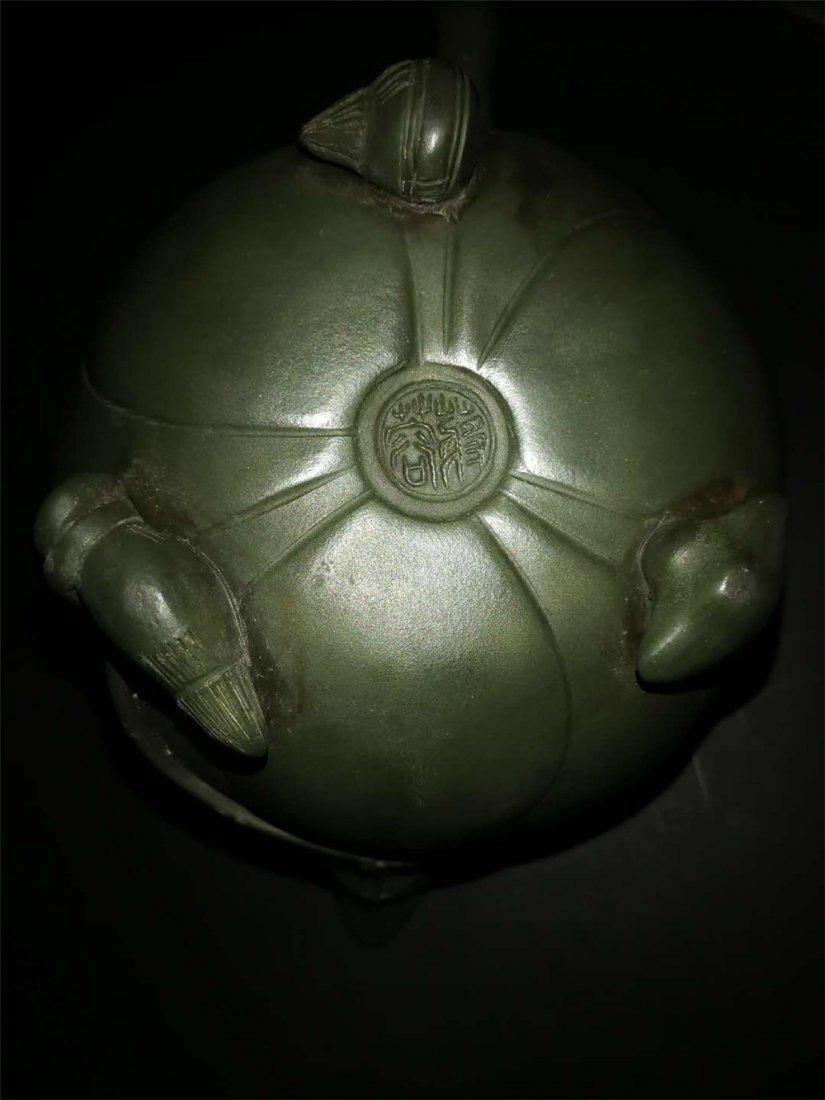 Chinese zisha teapot and cover.(Mark of Jiang Rong) - 6