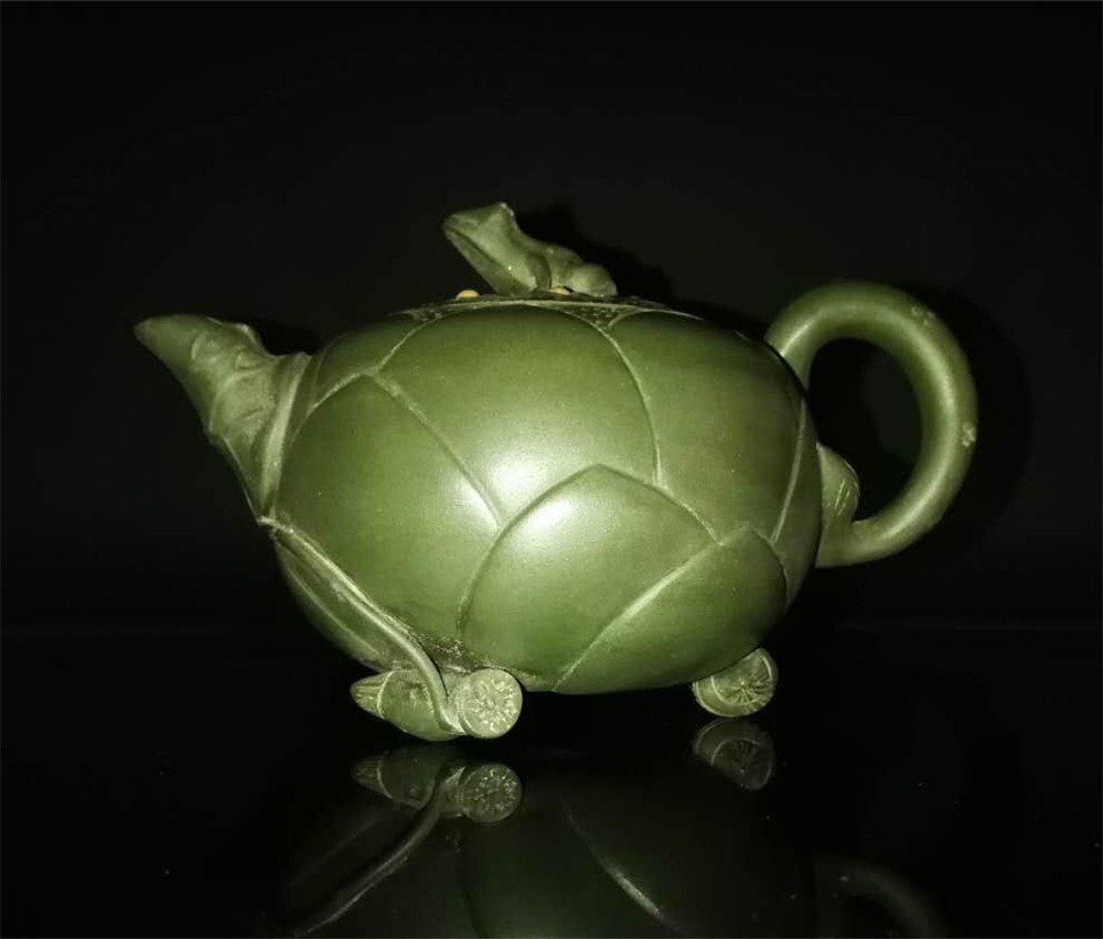 Chinese zisha teapot and cover.(Mark of Jiang Rong) - 7