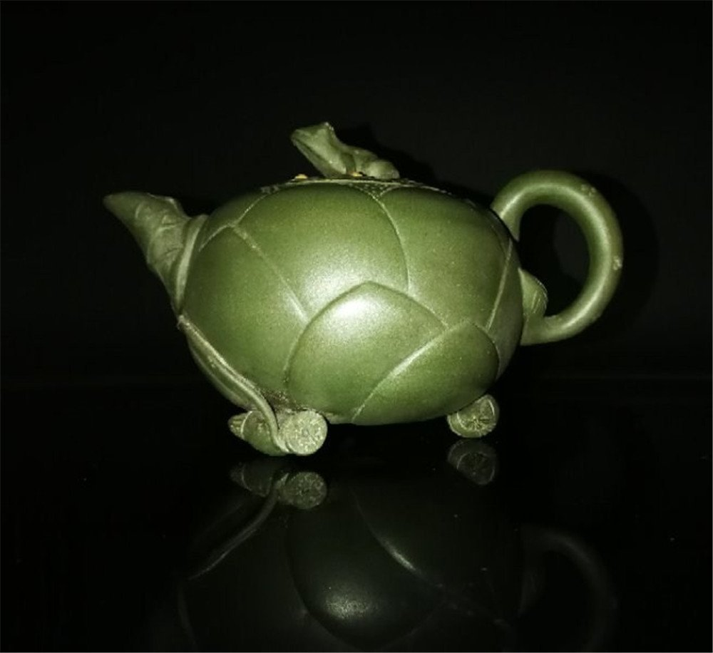 Chinese zisha teapot and cover.(Mark of Jiang Rong) - 8