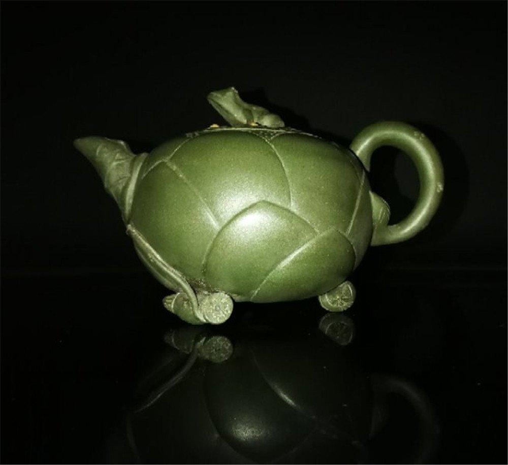 Chinese zisha teapot and cover.(Mark of Jiang Rong) - 8