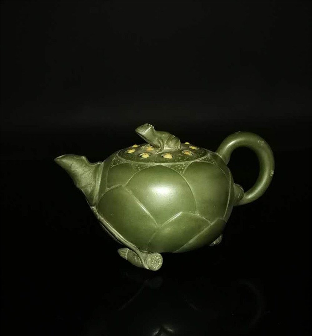 Chinese zisha teapot and cover.(Mark of Jiang Rong) - 9