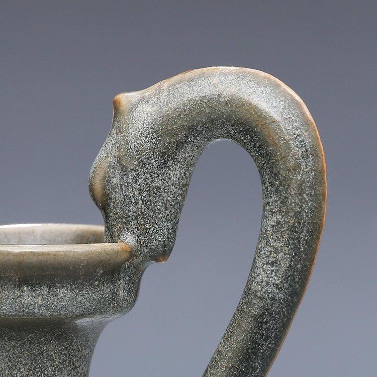 Chinese Ru kiln Porcelain Two ears Vase - 2