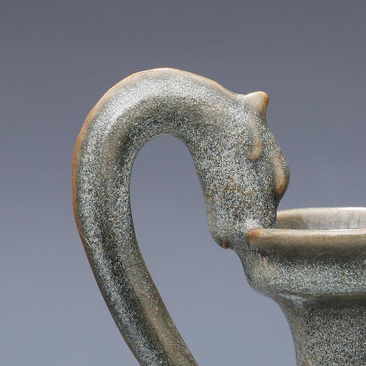 Chinese Ru kiln Porcelain Two ears Vase - 3