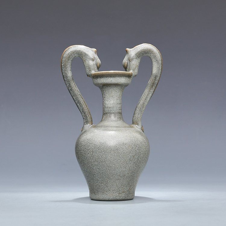 Chinese Ru kiln Porcelain Two ears Vase - 7