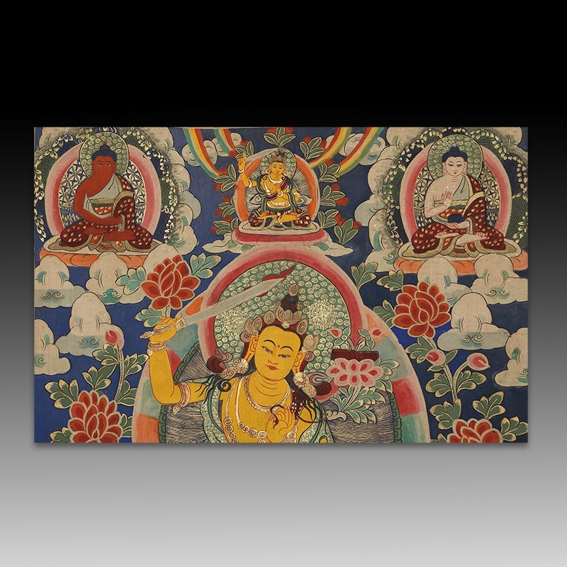 Chinese Qing Dynasty painting Buddhist Thangka - 3