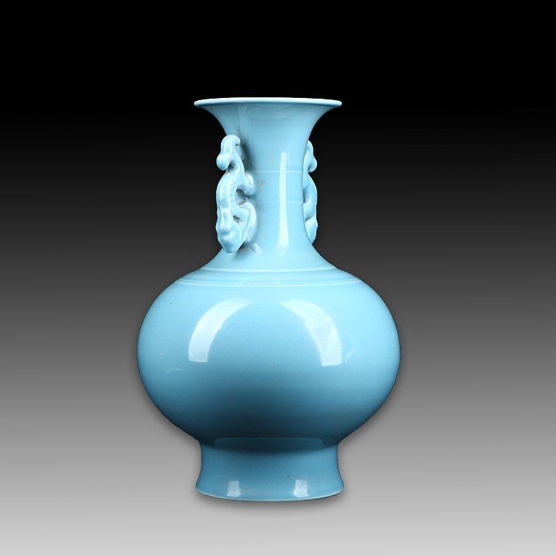 Chinese Pale Celadon Porcelain Bottle Vase - 2