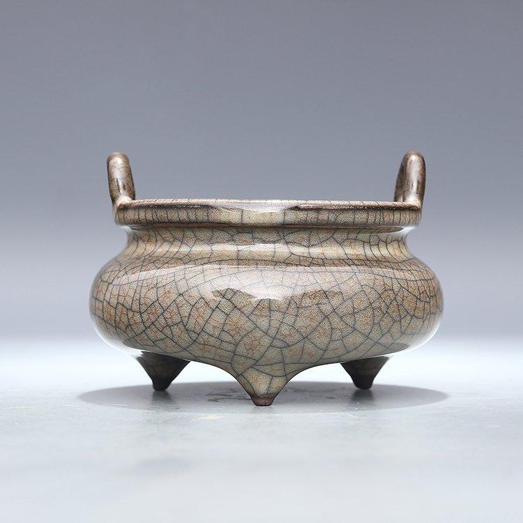 Chinese Ge kiln Porcelain  Tripod censer
