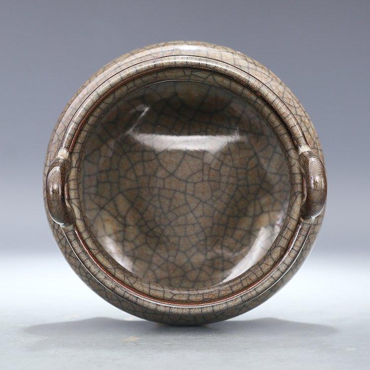 Chinese Ge kiln Porcelain  Tripod censer - 4