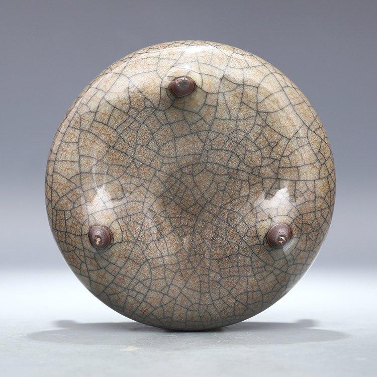 Chinese Ge kiln Porcelain  Tripod censer - 8