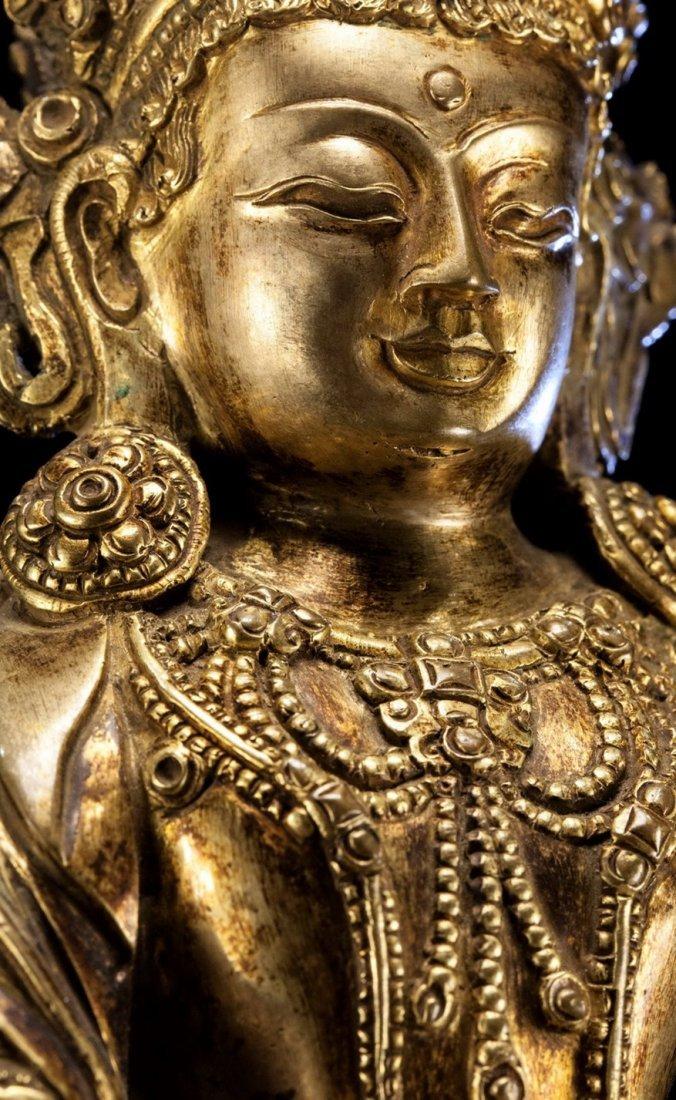 Chinese Ming Dynasty  Bronze Buddha - 3
