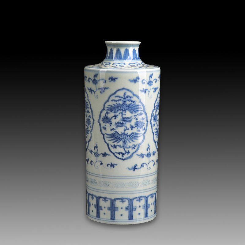 Chinese Antique Blue And White Porcelain Vase