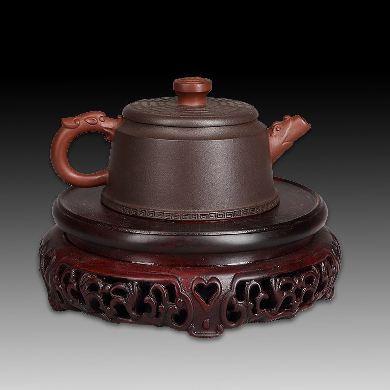 Chinese zisha teapot and cover - 2