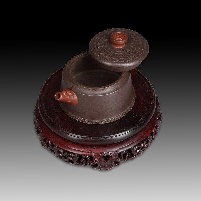 Chinese zisha teapot and cover - 4