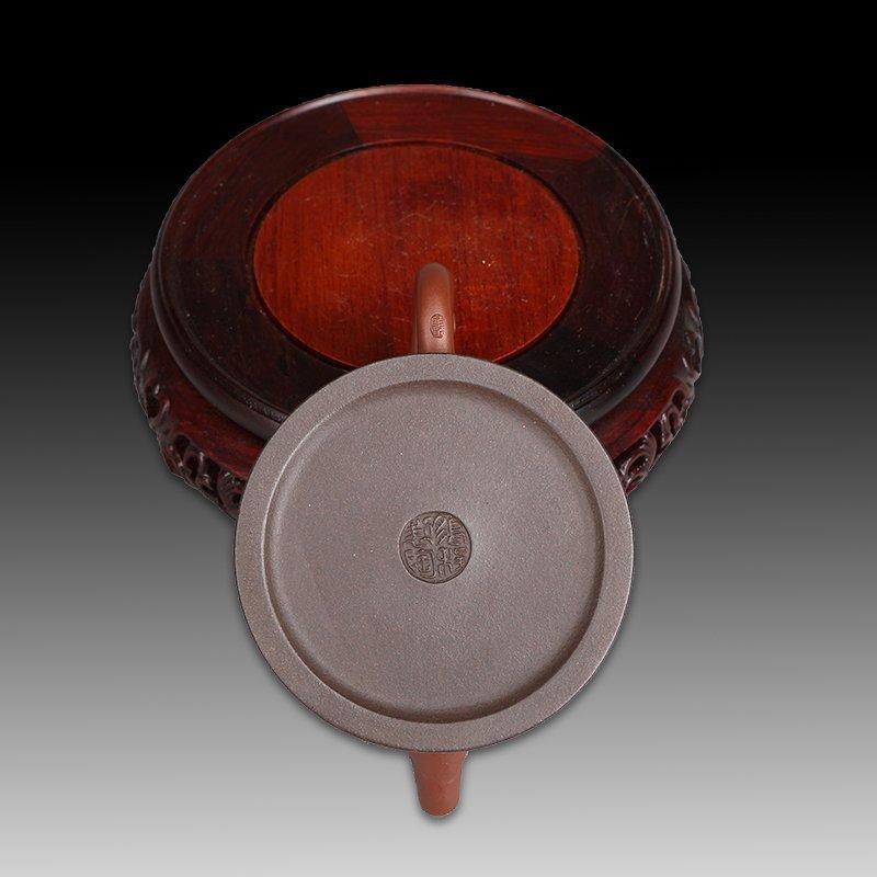 Chinese zisha teapot and cover - 5