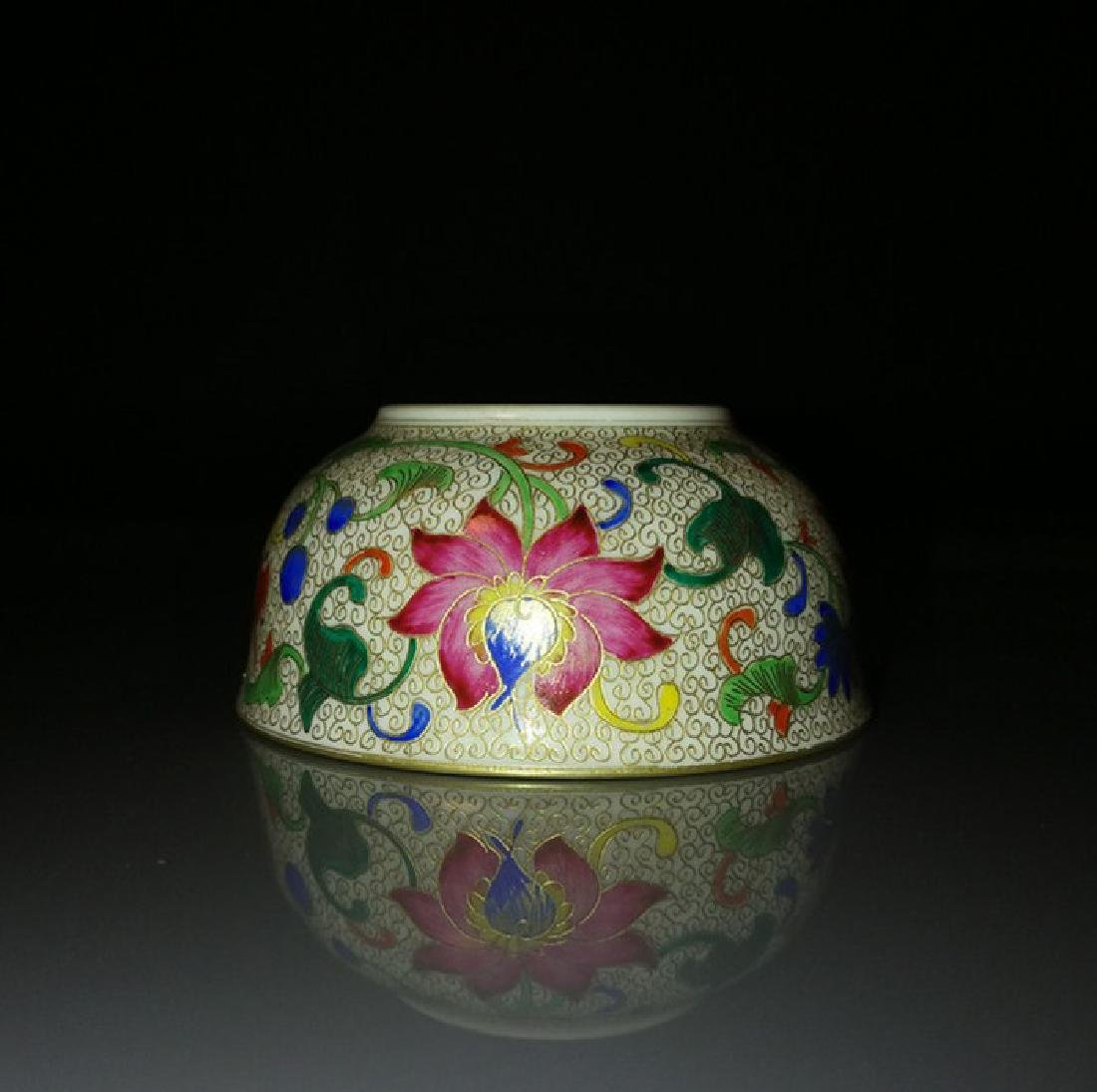 Pair of Chinese Famille Rose Porcelain Bowls - 5