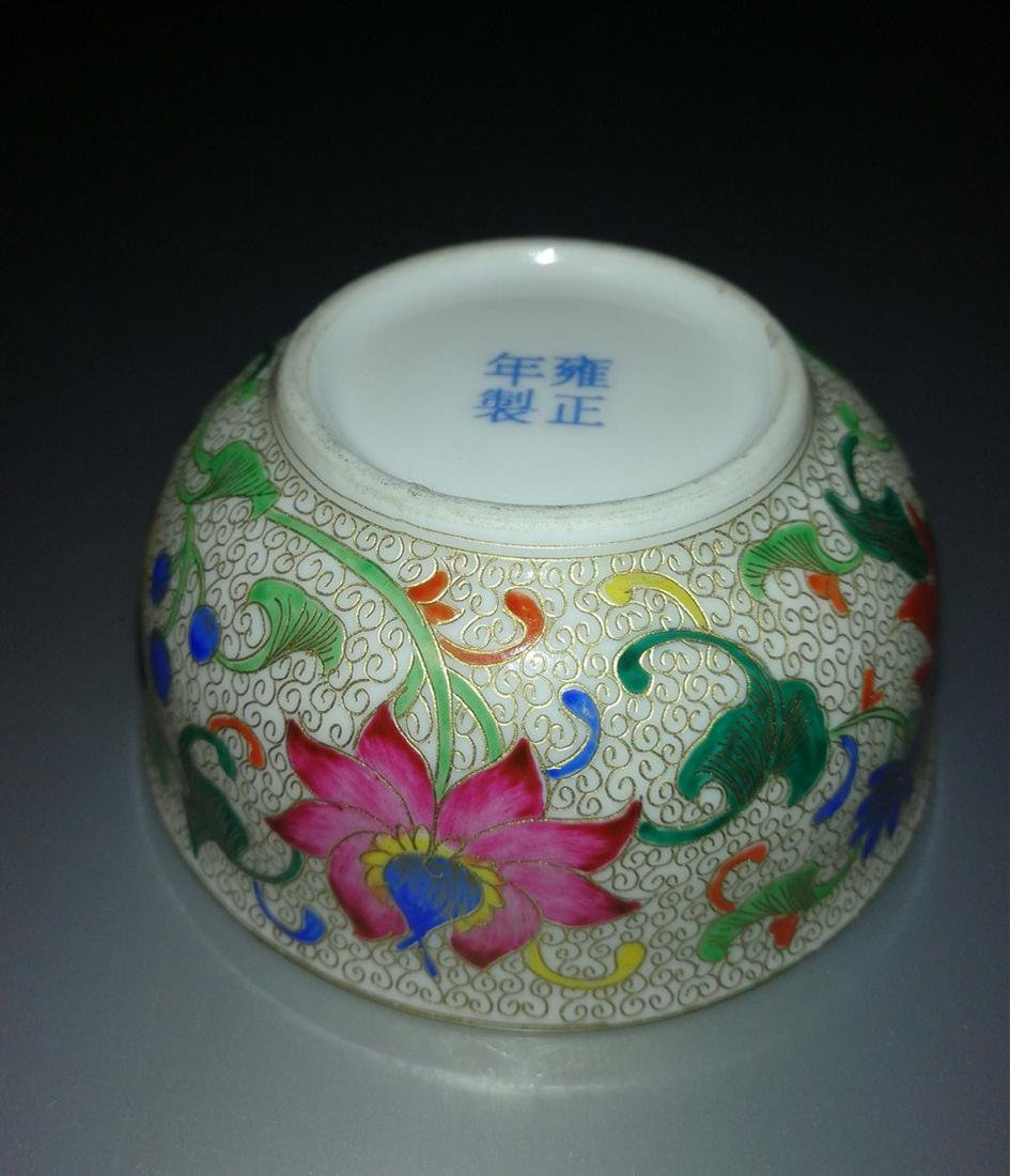 Pair of Chinese Famille Rose Porcelain Bowls - 7