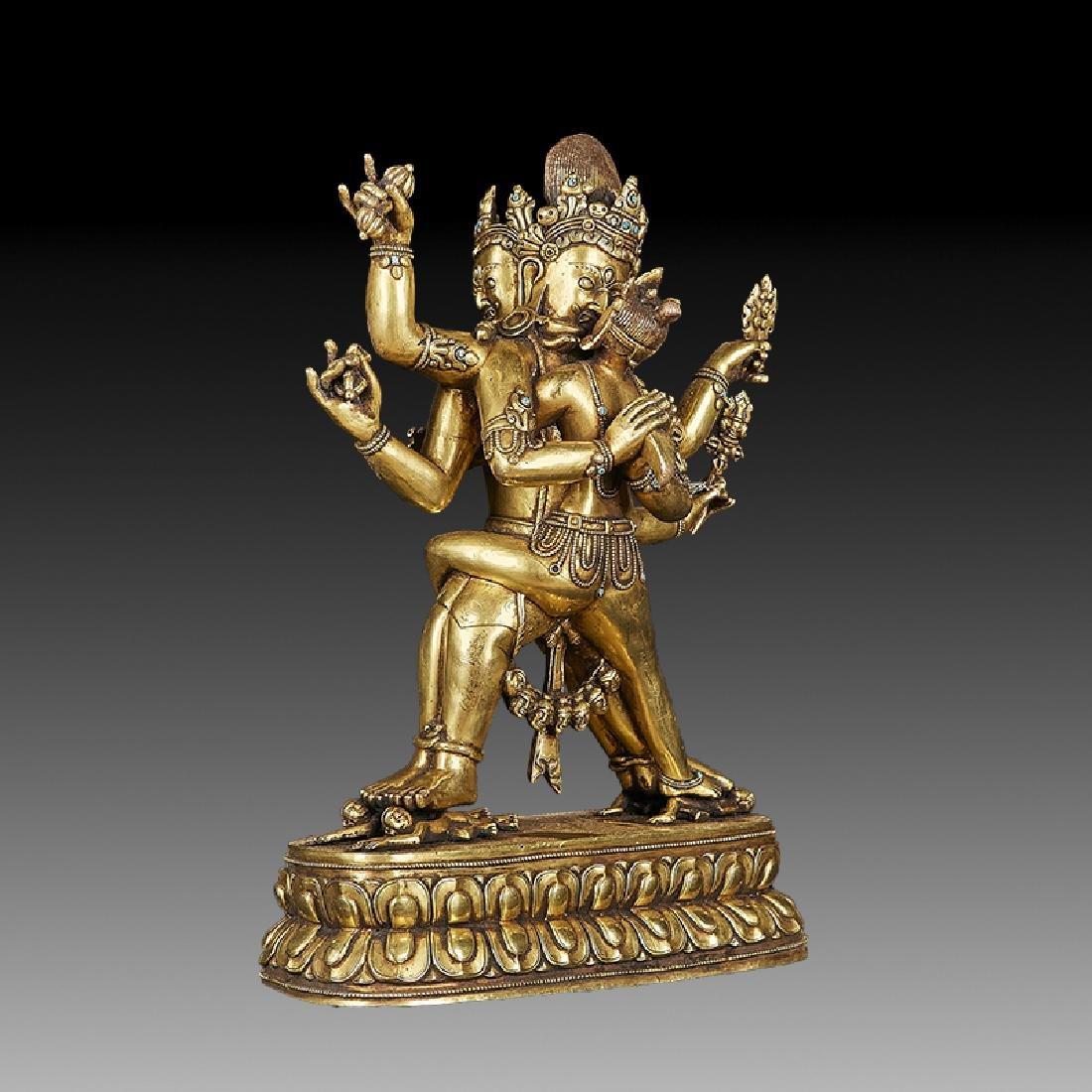 Chinese Ming Bronze Buddha Figure - 3