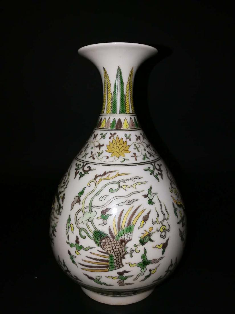 Pair Chinese Doucai Porcelain Vase - 3