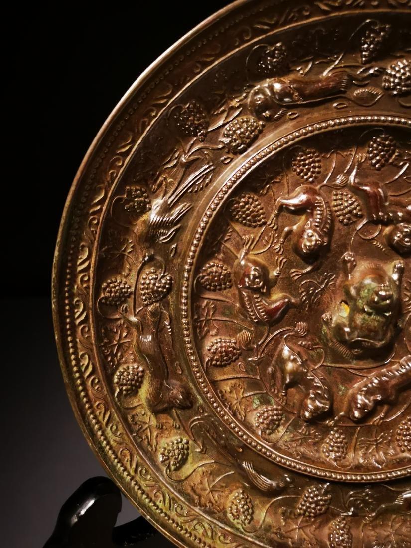 Chinese Circular  Bronze Mirror - 4