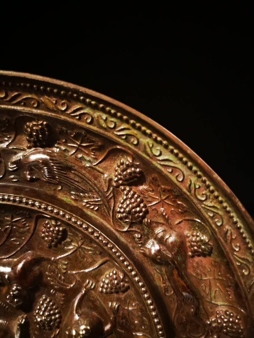 Chinese Circular  Bronze Mirror - 5