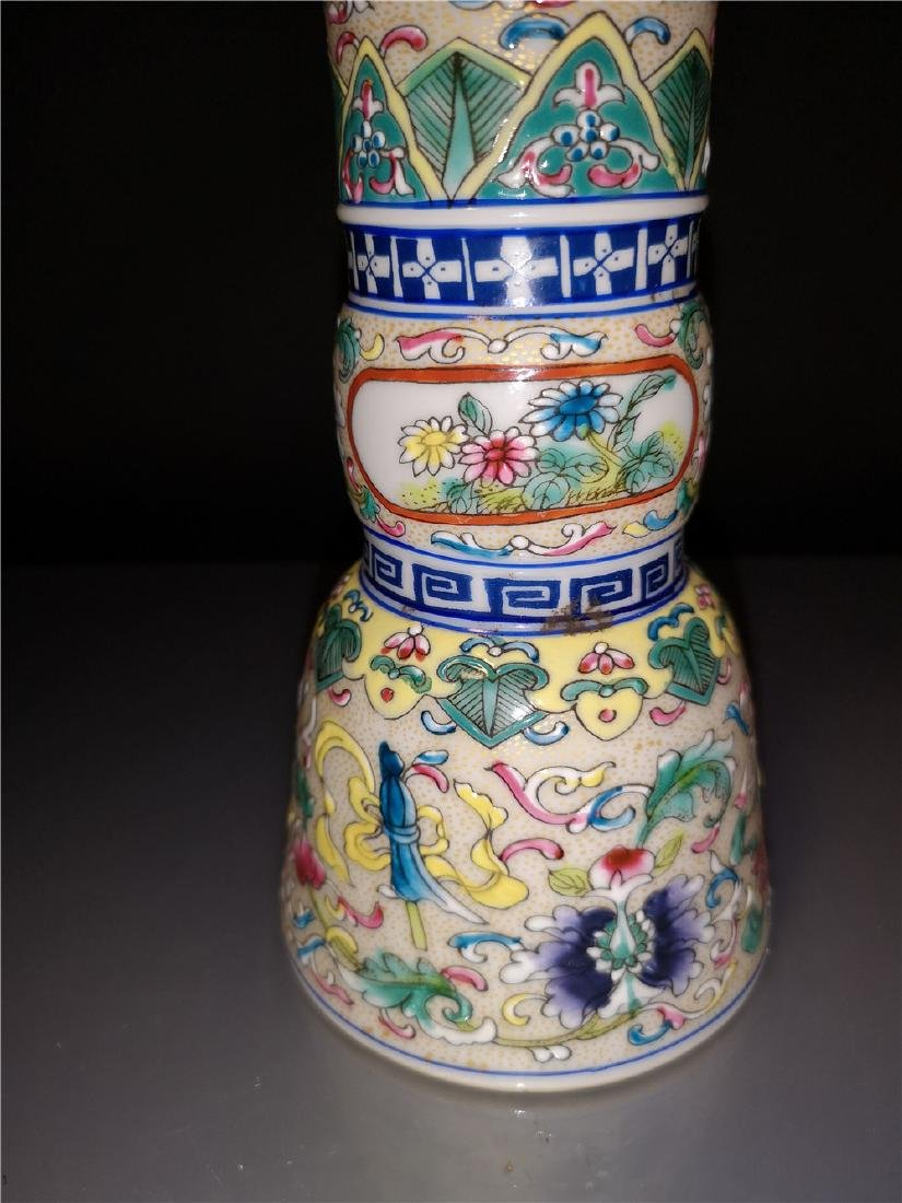 Pair of Chinese  Famille Rose  Porcelain  Vases - 6