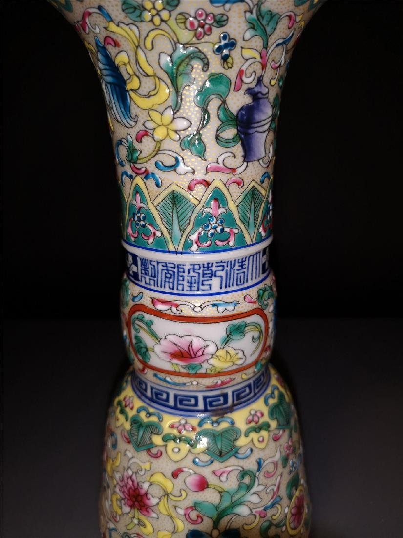 Pair of Chinese  Famille Rose  Porcelain  Vases - 7