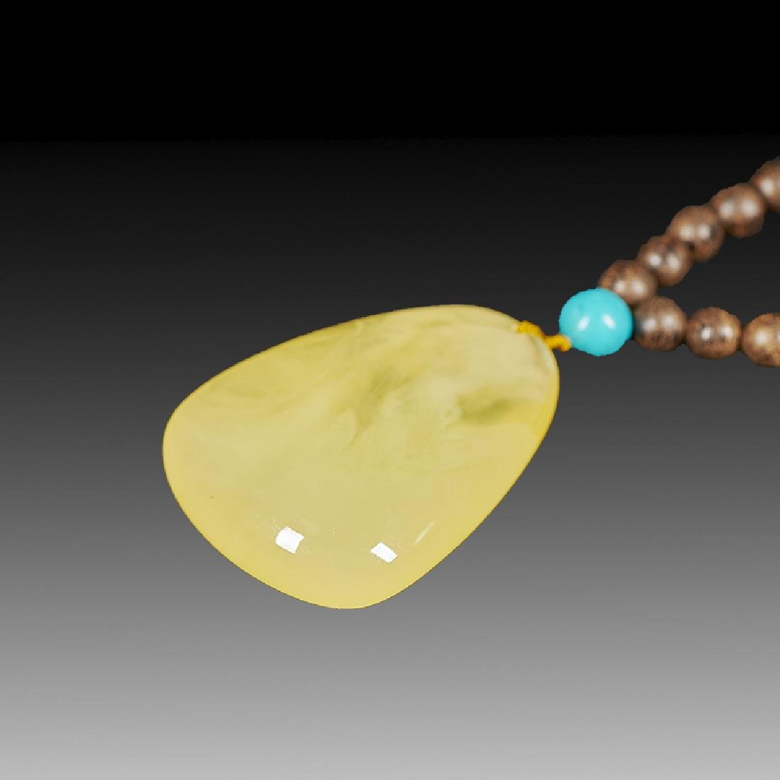 Chinese Chenxiang and Amber Necklace - 5