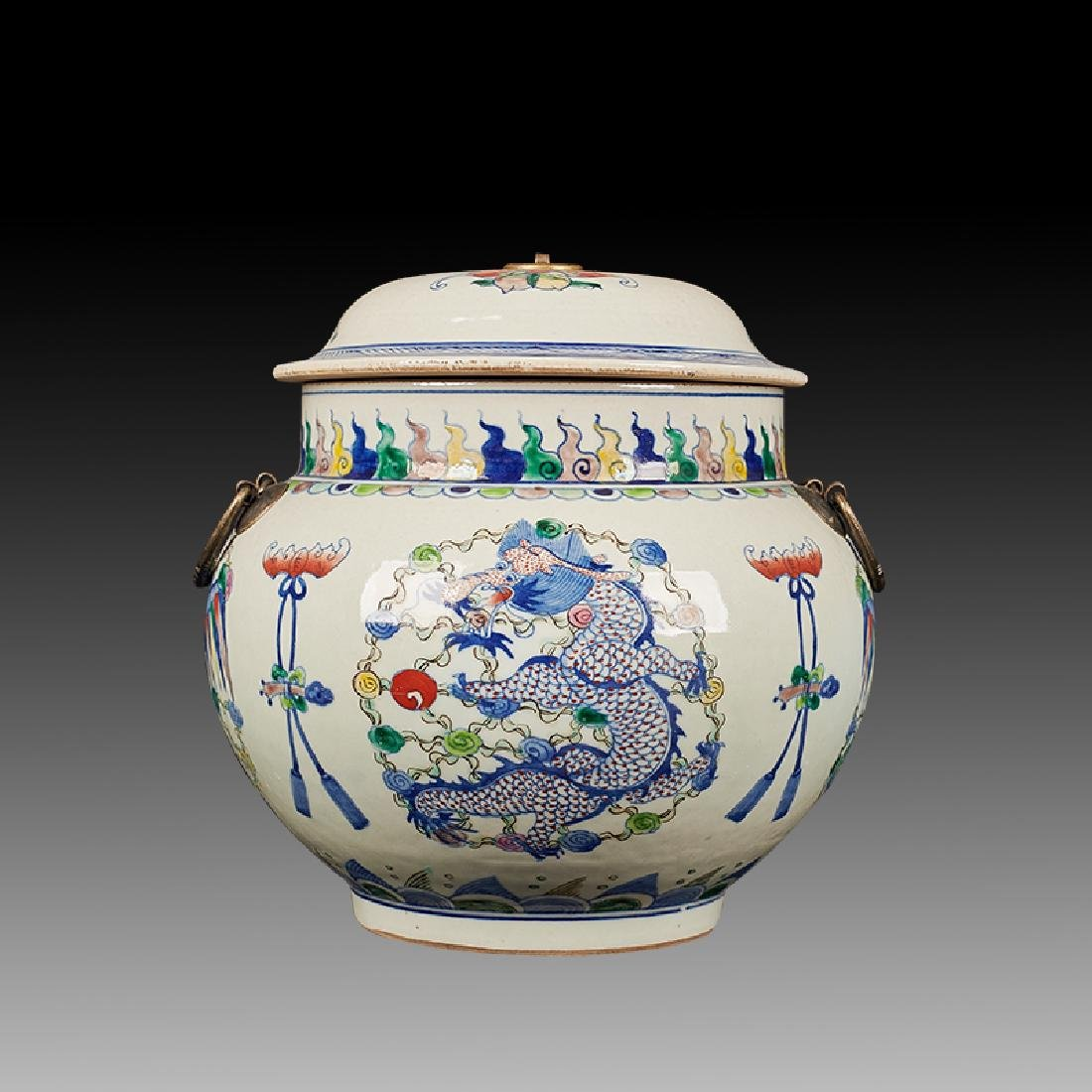 Chinese Doucai Porcelain Ginger Jar