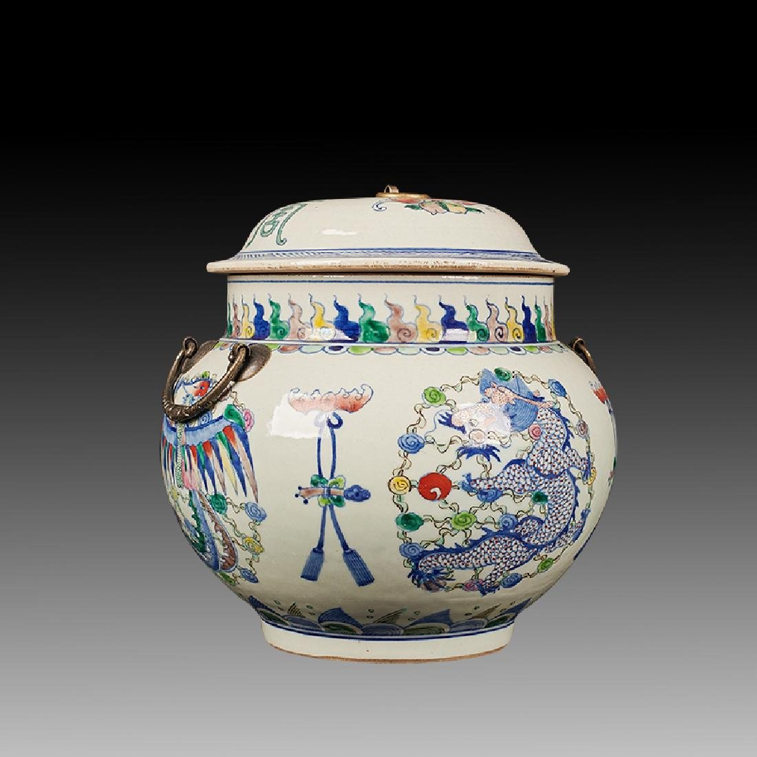 Chinese Doucai Porcelain Ginger Jar - 3