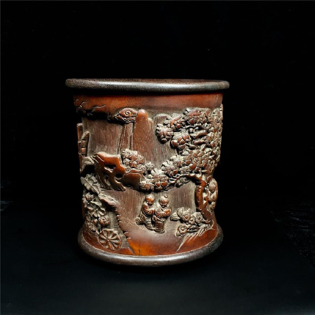 Chinese Bamboo Brush Pot