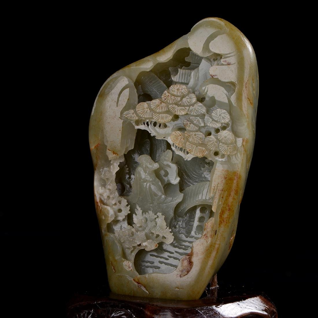 Chinese HeTian Jade Boulder - 3