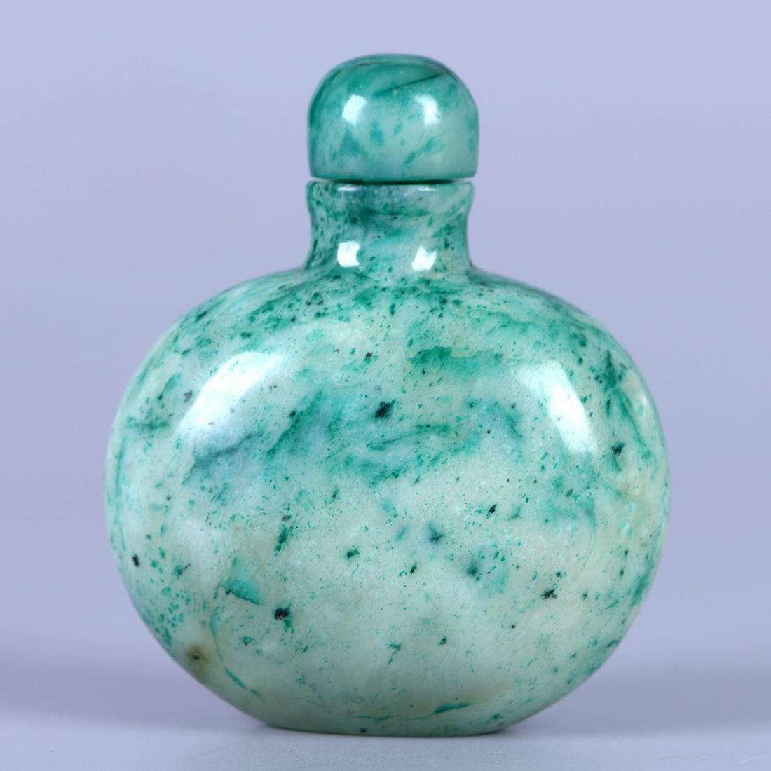Chinese Green Jade Snuff Bottle