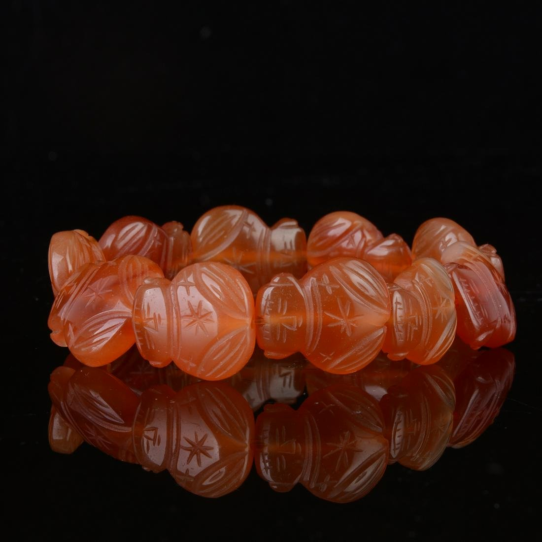 Chinese  Red Agate Carving Bracelets
