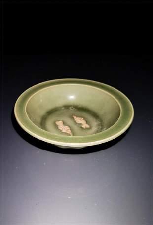 Chinese Yaozhou kiln Porcelain Brush Washer