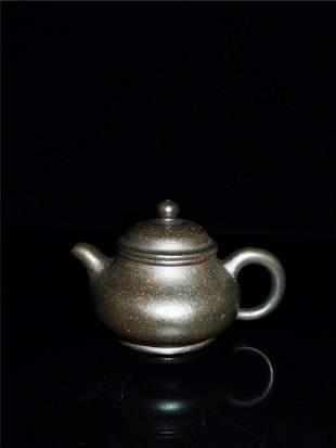 Chinese Zisha Teapot and Cover.(Mark of Zhou Guizhen)