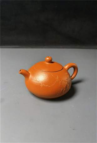 Chinese Zisha teapot and cover (Mark of .....)
