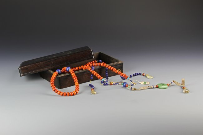 Chinese Coral Court Necklace