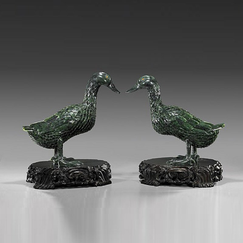 Chinese Hetian Jade In The duck(Two)