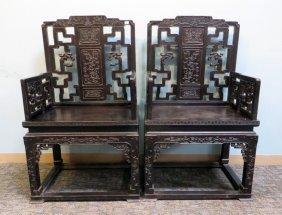 Zitan Wood Arm Chairs