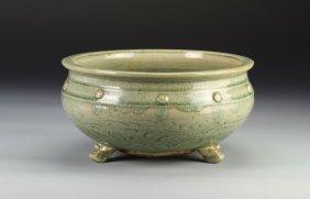 Chinese Ming Longquan Celadon Censer