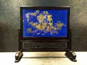 Chinese 20th Century Hand Painted Porcelain Plaque