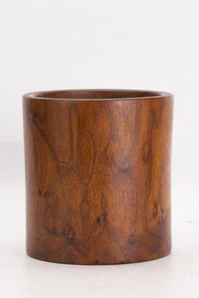 Chinese Hardwood Or Huanghuali Brush Pot