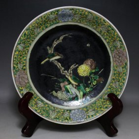 Chinese Sancai Glaze Charger