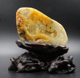 In The Qing Dynasty Hotan White Jade Furnishing