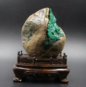 Natural Jade Green Color.open The Color Is Green