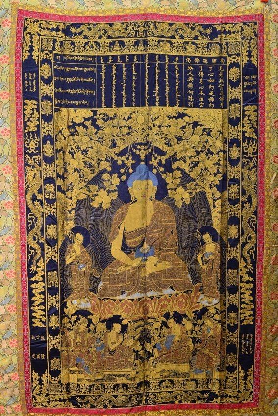 Seven of silk buddhist thangkas - 6
