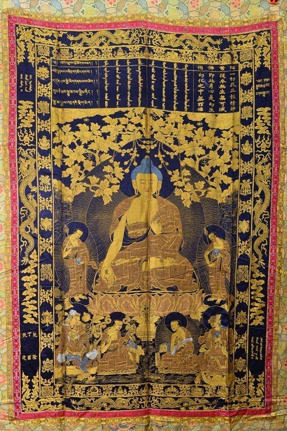 Seven of silk buddhist thangkas - 8