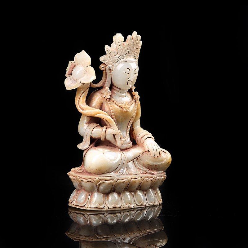 Chinese Hetian Jade Guanyin - 3
