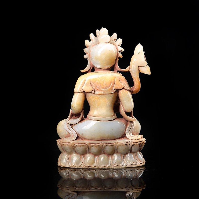 Chinese Hetian Jade Guanyin - 4